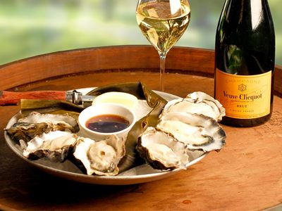 Oysters and Champagne Happy Hour